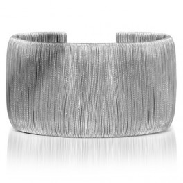Wide Bangle wrapped with Steel wires